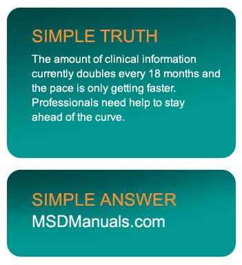 Overview of the MSD Manuals - MSD Manual Professional Edition